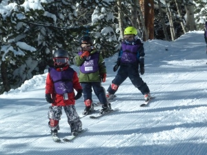 2 preschool ski school lessons with GPS