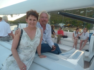 b. Sir Richard Branson and Melody