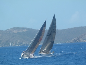 6. two sailboats competing