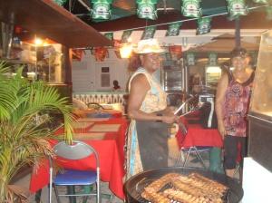 Streetside cooking Marigot