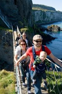 Carrick - on the rope bridge