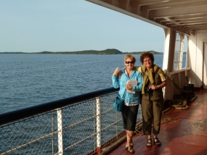 Sylvie and I on ferry