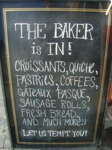 Eric The Baker signage