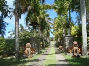 Nevis Botanical Gardens entrance copy