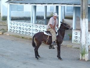 cuban cowboy smiling