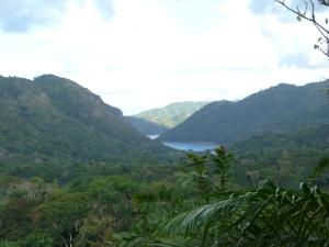 El Nicho mountain backdrop